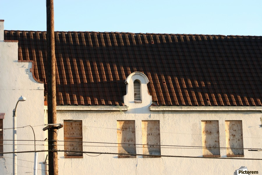 Old Building with Shadow  Print