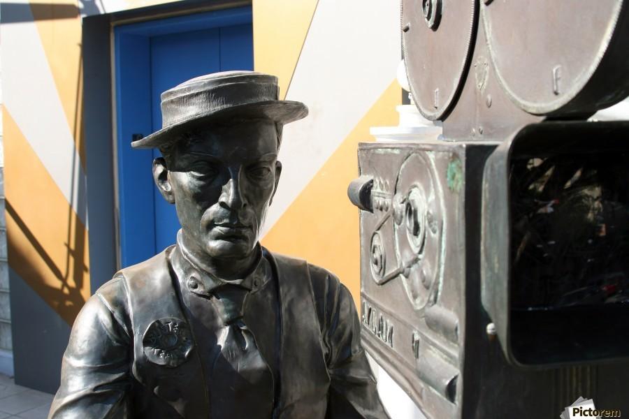 Buster Keaton Statue  Print
