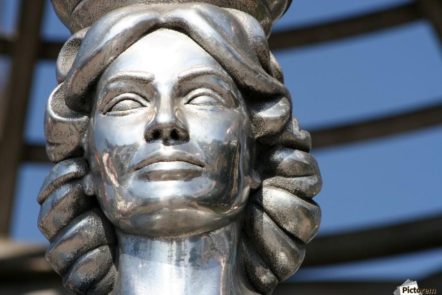 Silver Statue Face of Dorothy Dandridge  Print