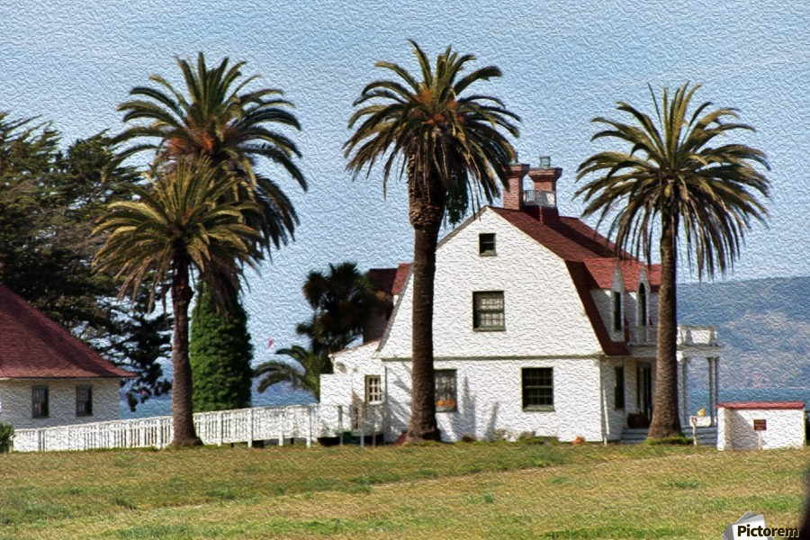 House at San Francisco Presidio Park  Print