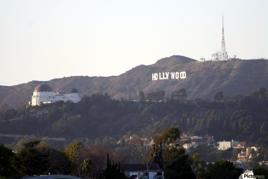 Hollywood Hills with Griffith Park Observatory  imprimons