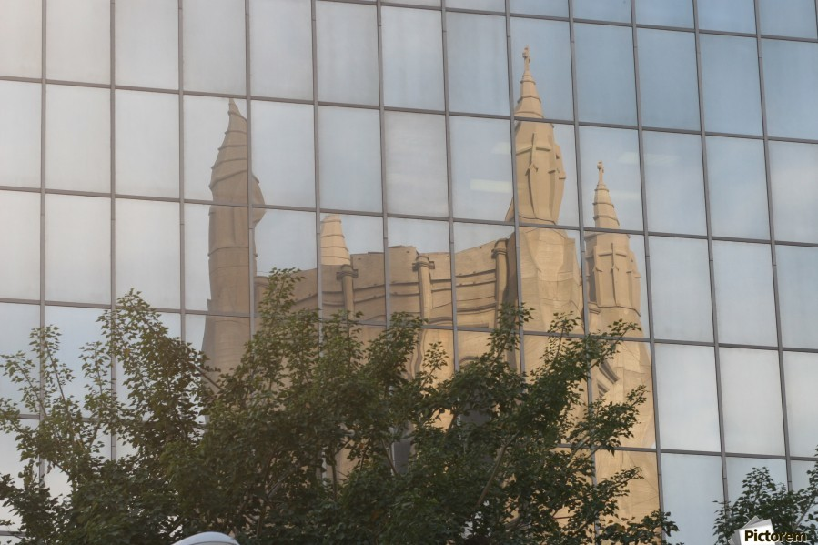 Reflection of Church Building  Print