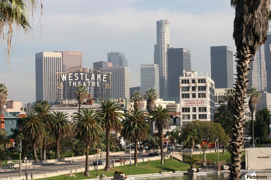 Westlake Theater to Los Angeles  Print