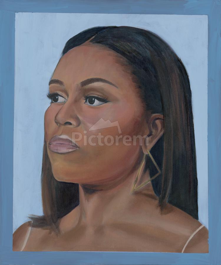 Michelle Obama Portrait  Print