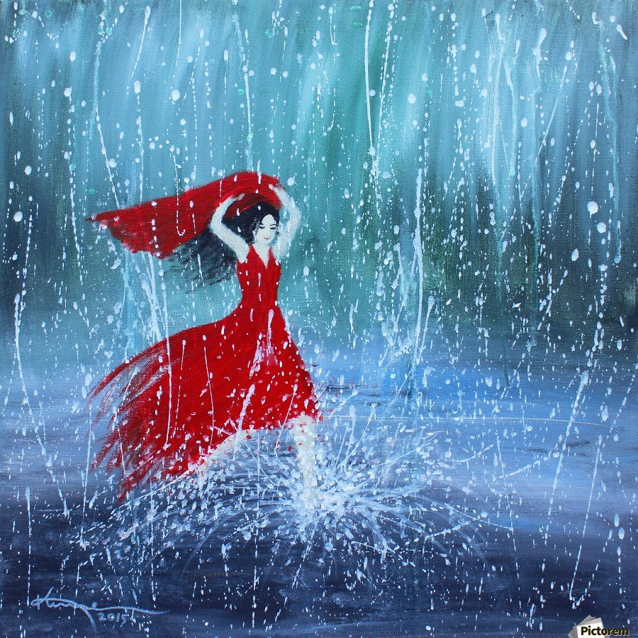 Being a Woman No7 - in the rain  Print