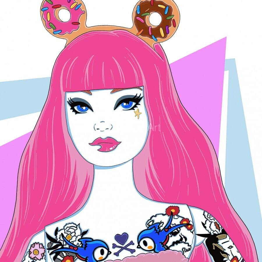 Candy Girl  Print