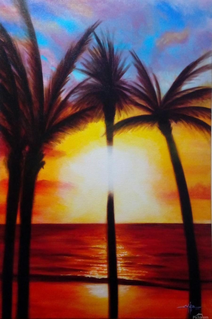 Waikiki Sunset  Print
