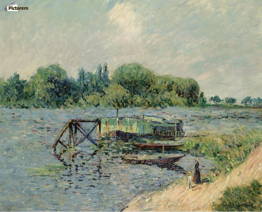 Laun Place on the Seine at Herblay  Print
