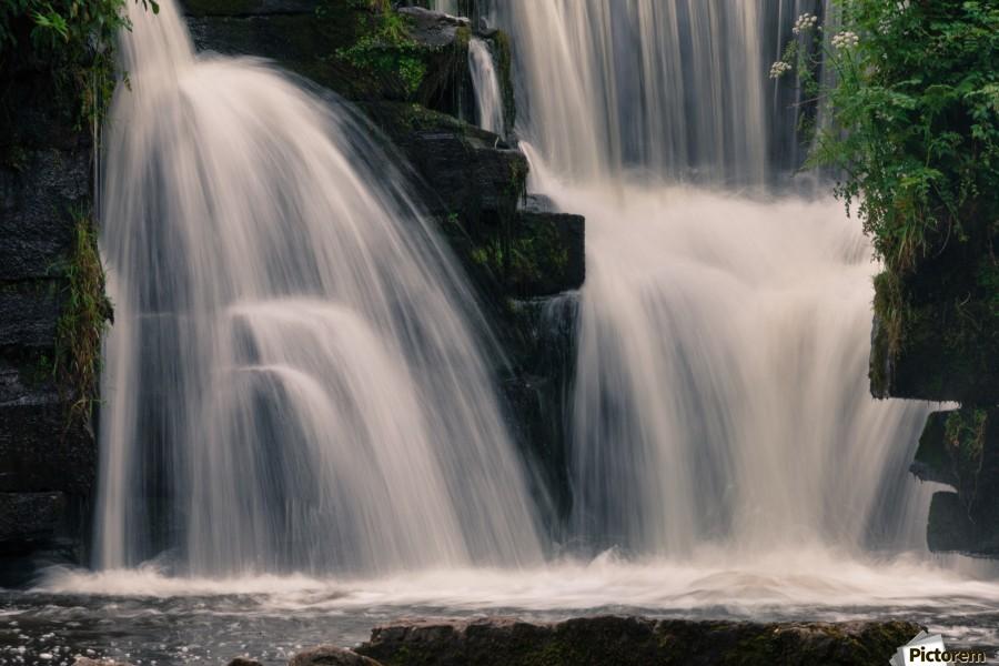 Waterfalls in Penllergare woods  Print