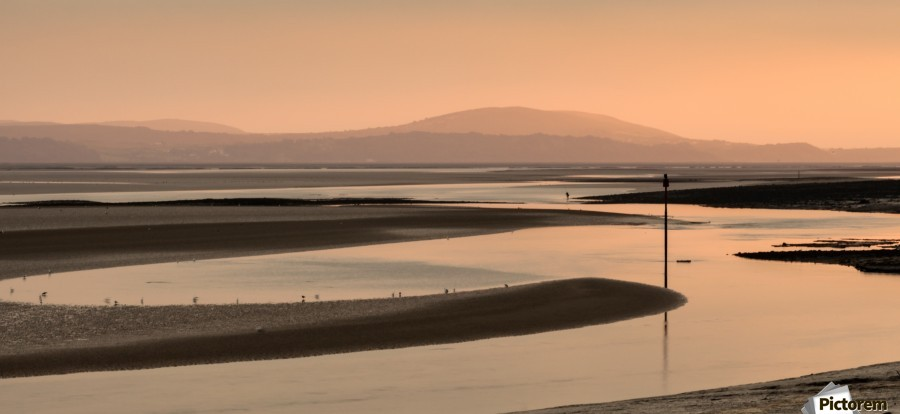Loughor estuary at dusk  Print