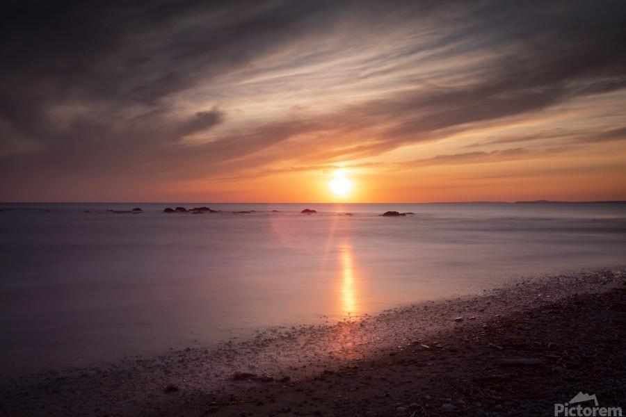 Sker Beach sunset  Print