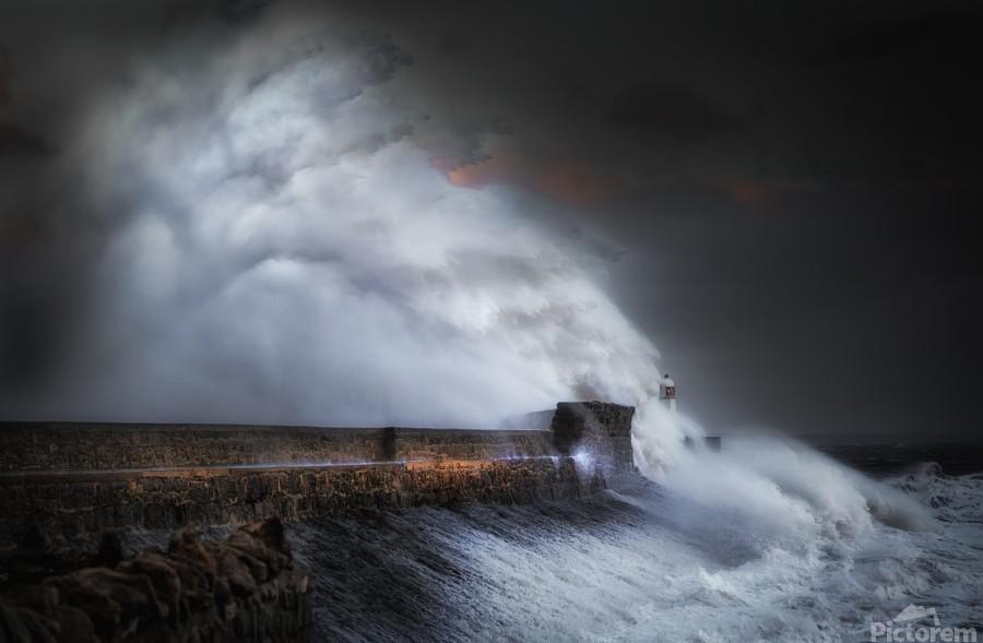 Hurricane Ophelia at Porthcawl  Print