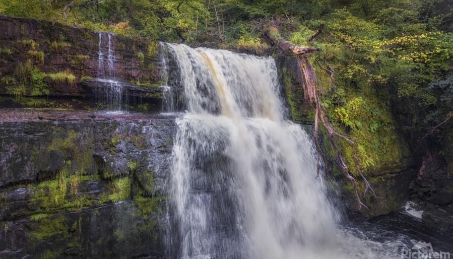 The waterfall Sgwd Clun Gwyn   Print