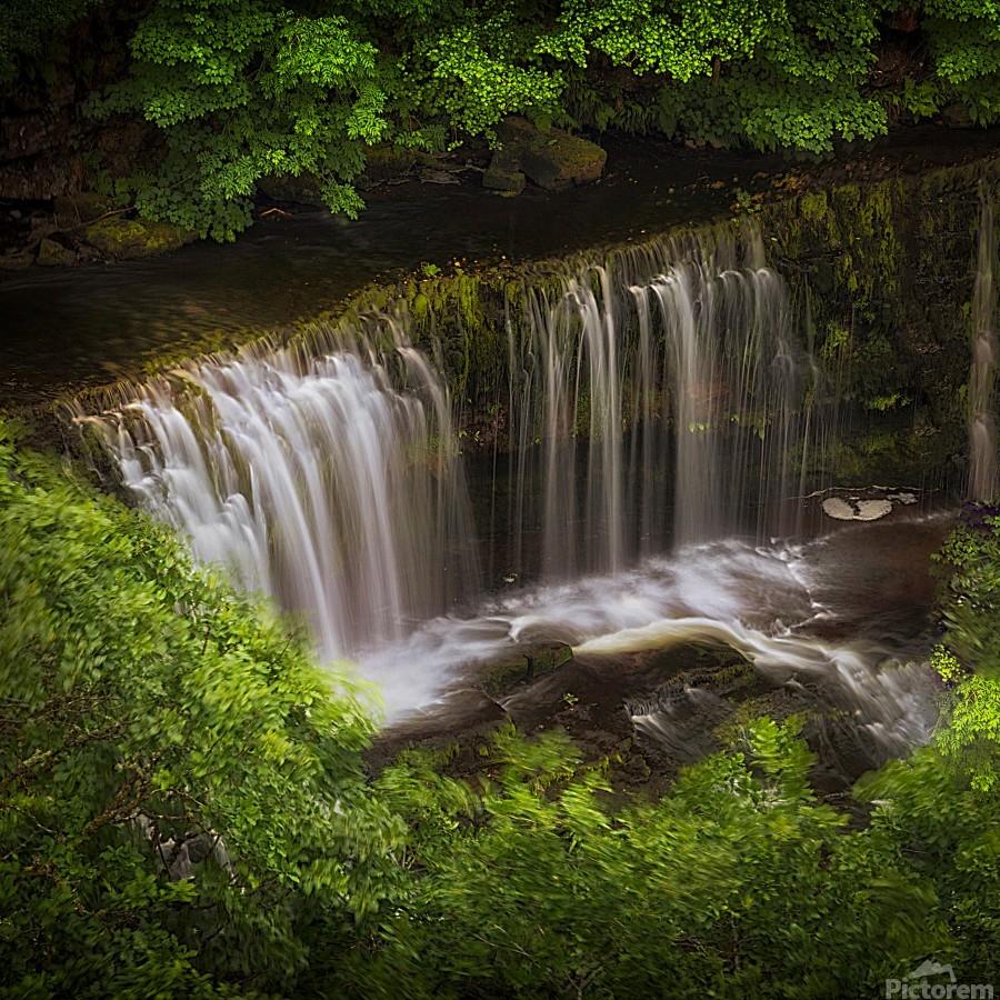 The Sgwd Isaf Clun-gwyn waterfall  Print