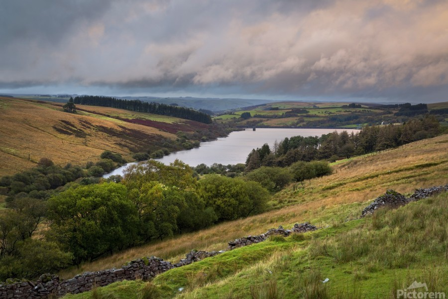 The Cray Reservoir in the Brecon Beacons National Park  Print