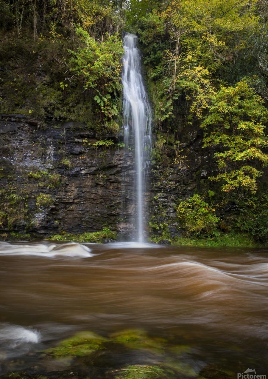 A waterfall on the river Tawe  Print