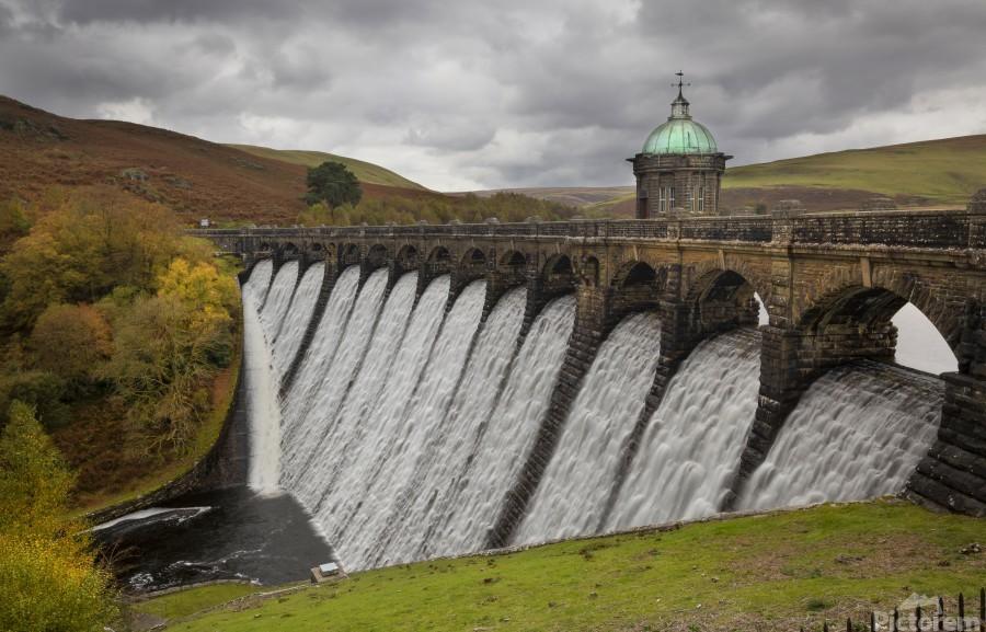 The dam at Craig Goch  Print