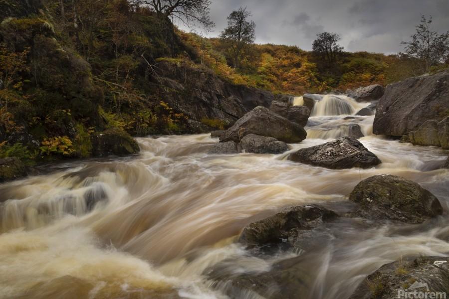 Elan valley watercourse  Print