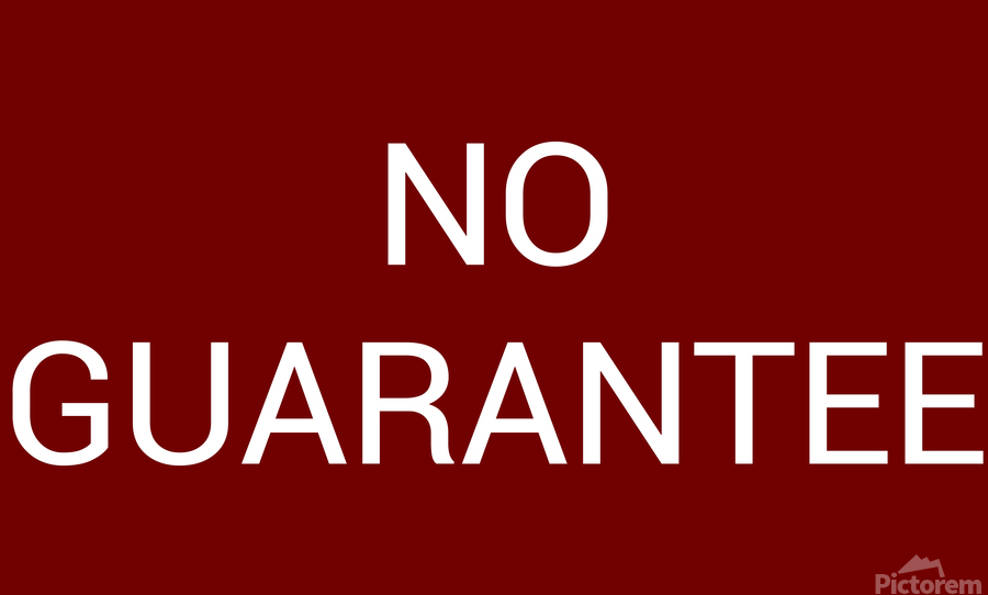 NO GUARANTEE blood red by Lenie Blue  Print