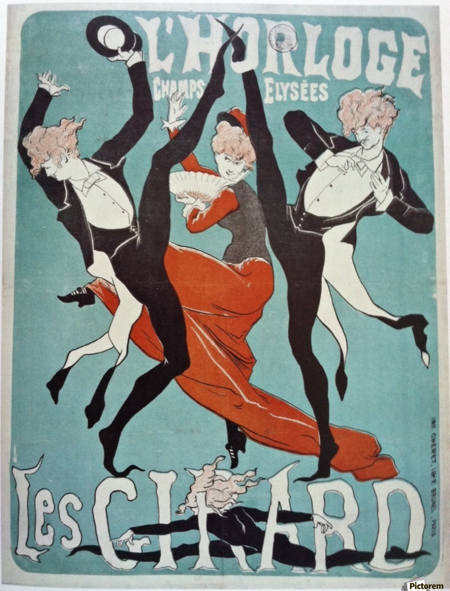 Les Girard By Jules Cheret 1879 Vintage Poster Canvas