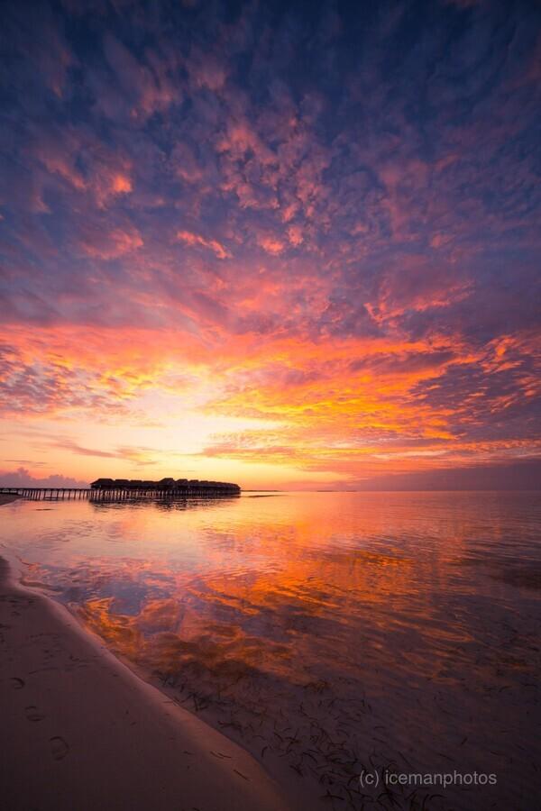 Beautiful tropical beach sunset  Print