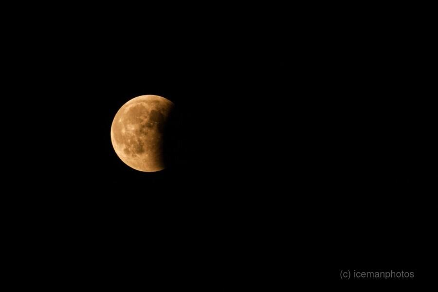 Moon, total Lunar eclipse as seen  Print