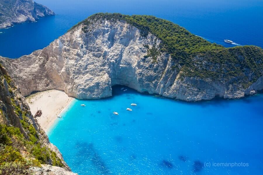 Amazing Navagio Beach in Zakynthos Island, Greece  Print