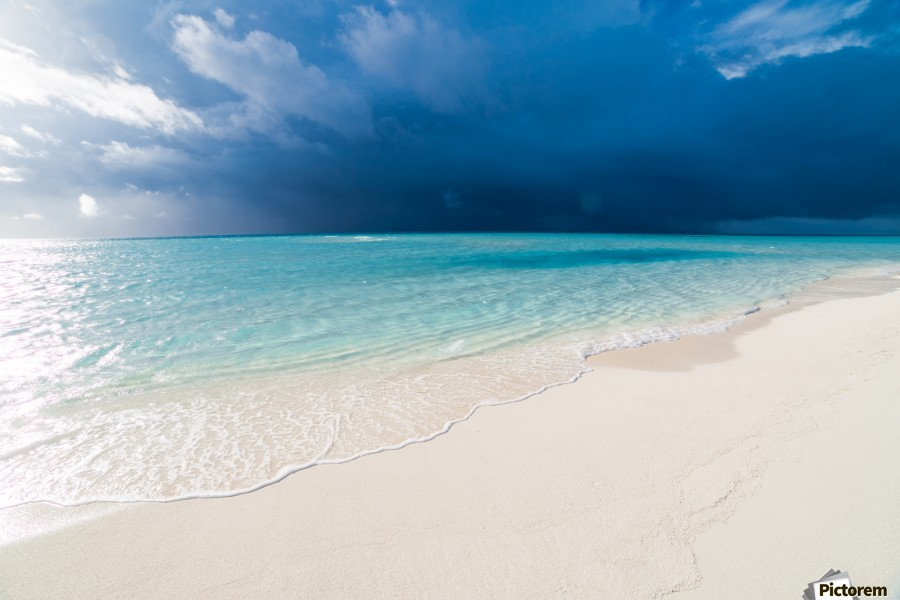 Amazing beach in Maldives, summer travel  Print