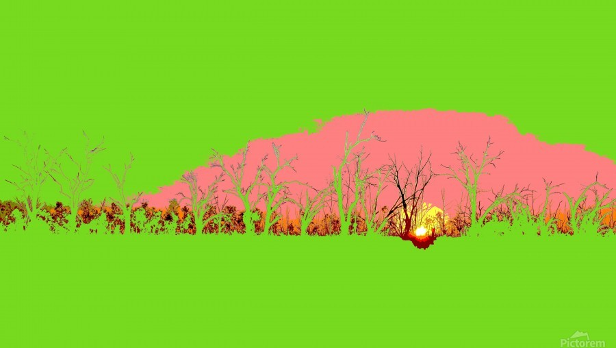 Lake Sunset - Green  Print