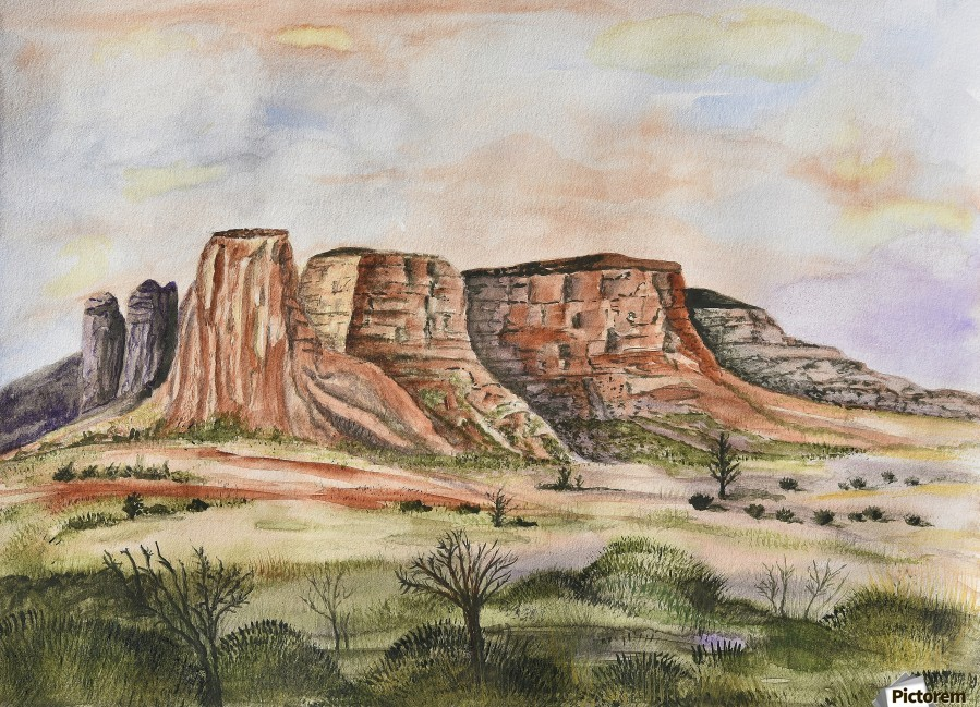 Buttes of Sedona   Print