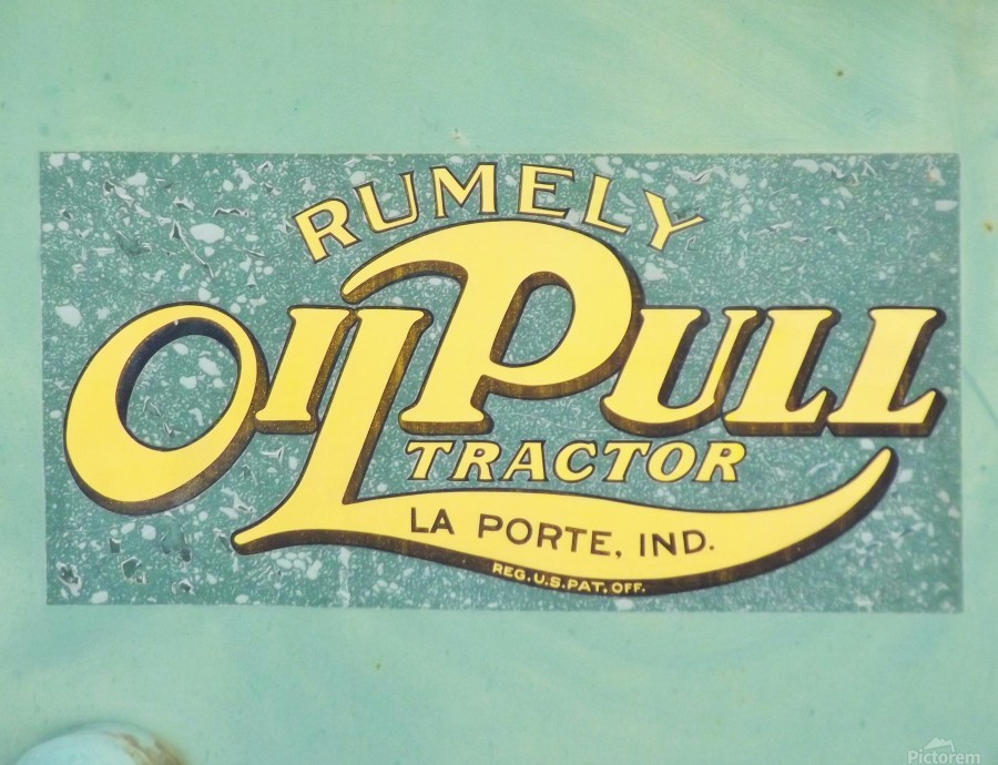 Rumely Tractor Oil Pull Sign  Print