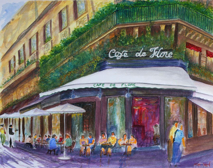 Cafe The Flore Paris  Print