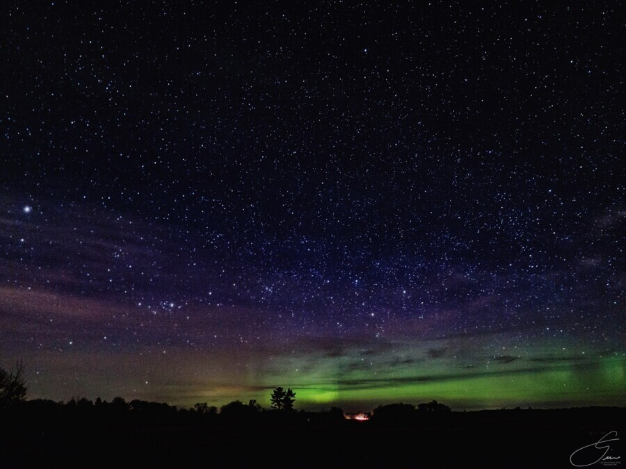 Northern Lights MN 2  Print