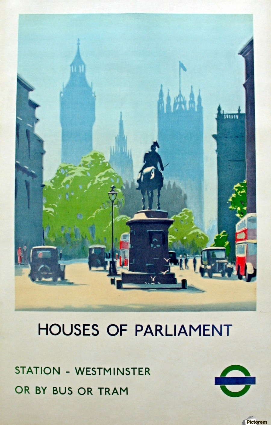 London Underground Houses of Parliament  Print