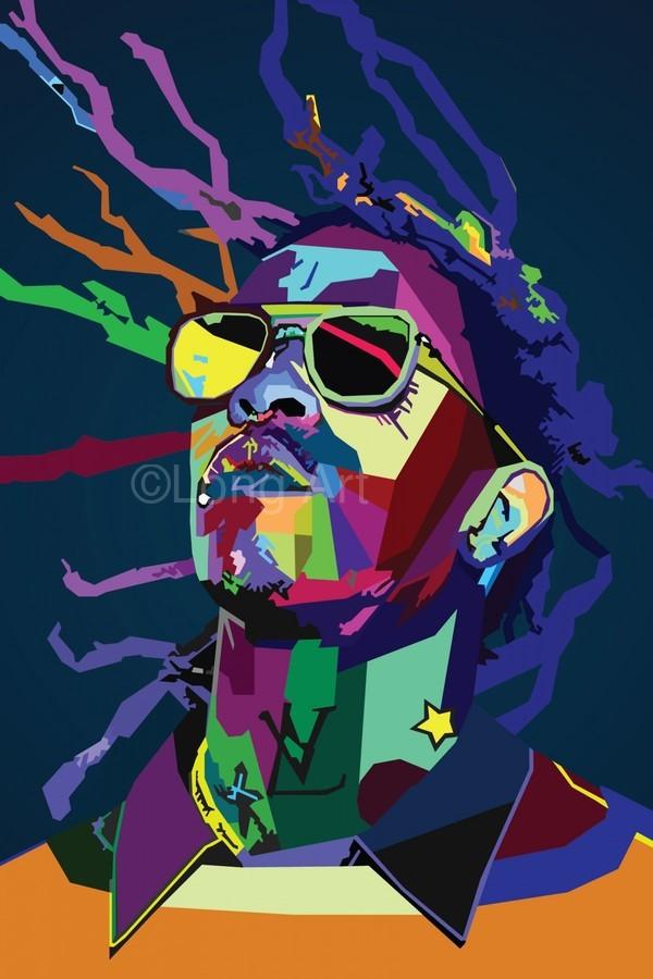 Young Thug Rapper Wpap Pop Art  Print