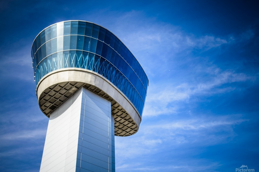 Airport Traffic Control Tower  Print