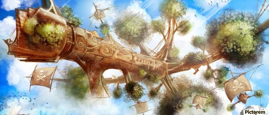 Tree Ship  Print