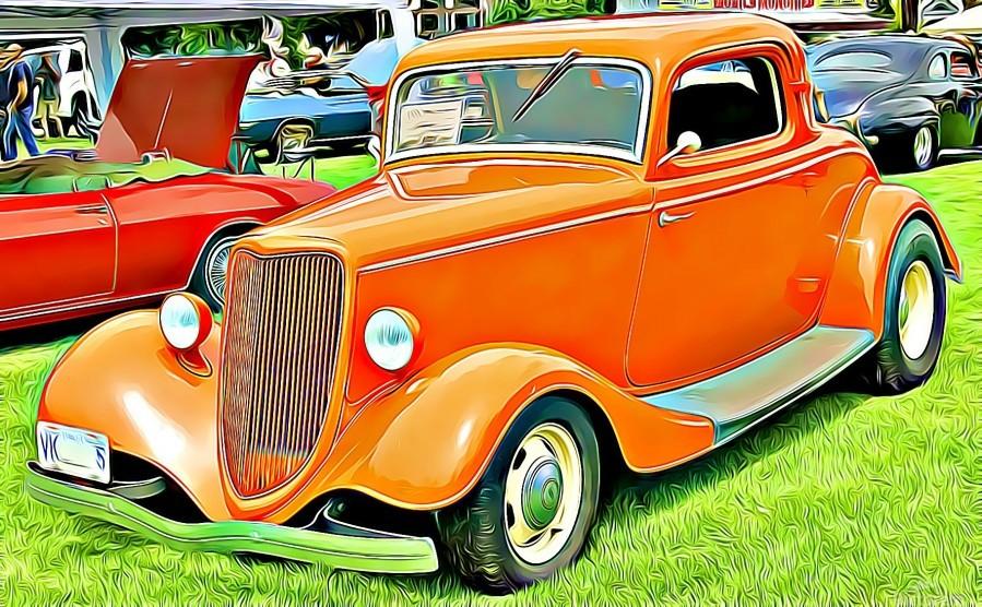 hot rod classic car   Print