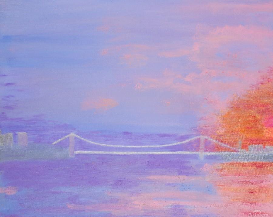 George Washington Bridge Sunrise  Print
