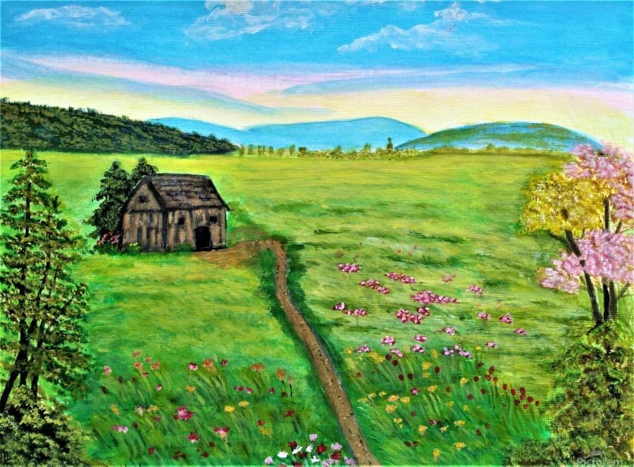 Sweet Little Home on Plains  Print