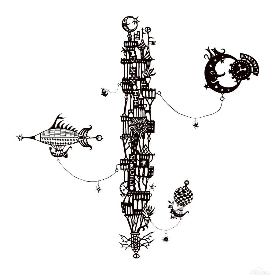 Castellini di Luna  Print