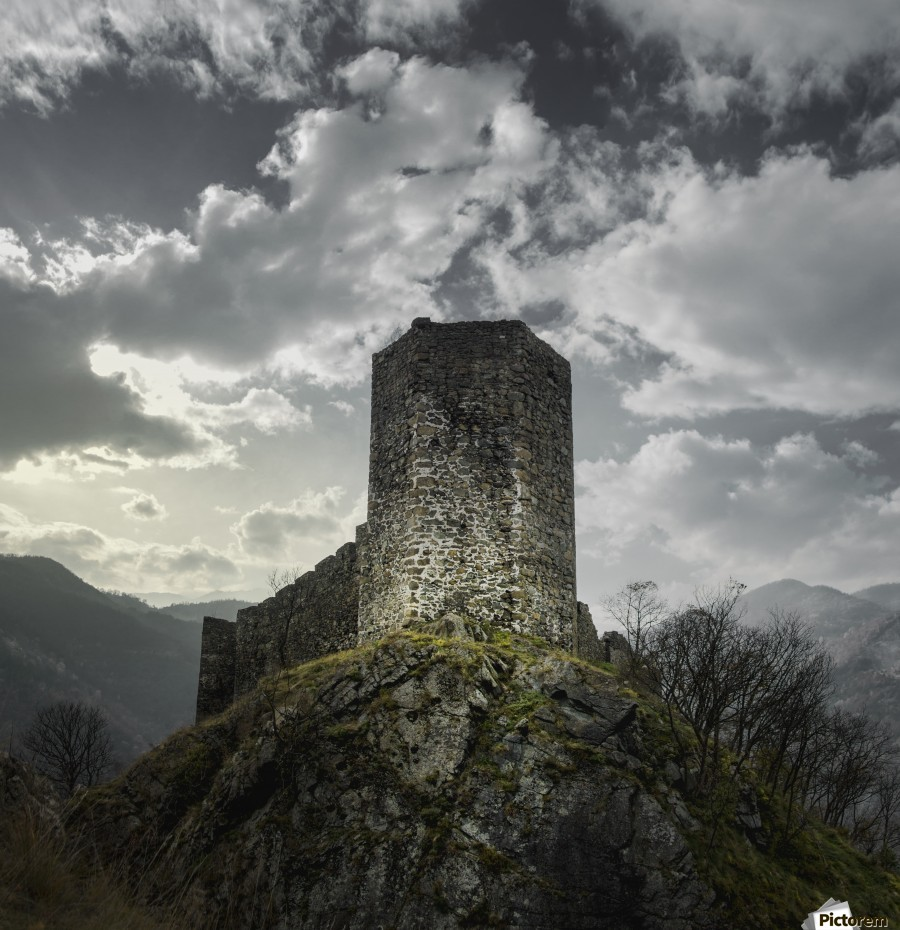Medieval , Marko Radovanovic , ruins, stone, hill,  maglic, serbia, mountains, clouds, tower, war, medieval, defense, fortress, walls, alone, high, time,