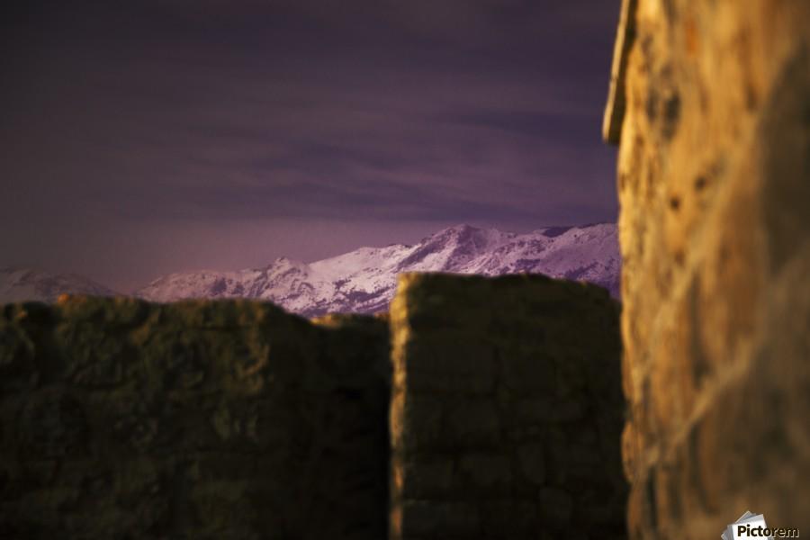 Stone walls  , Marko Radovanovic , budva, sea, mountains, snow, pink, sky, hidden, look_to_the_mountains, montenegro, travel, night, long_exposure,