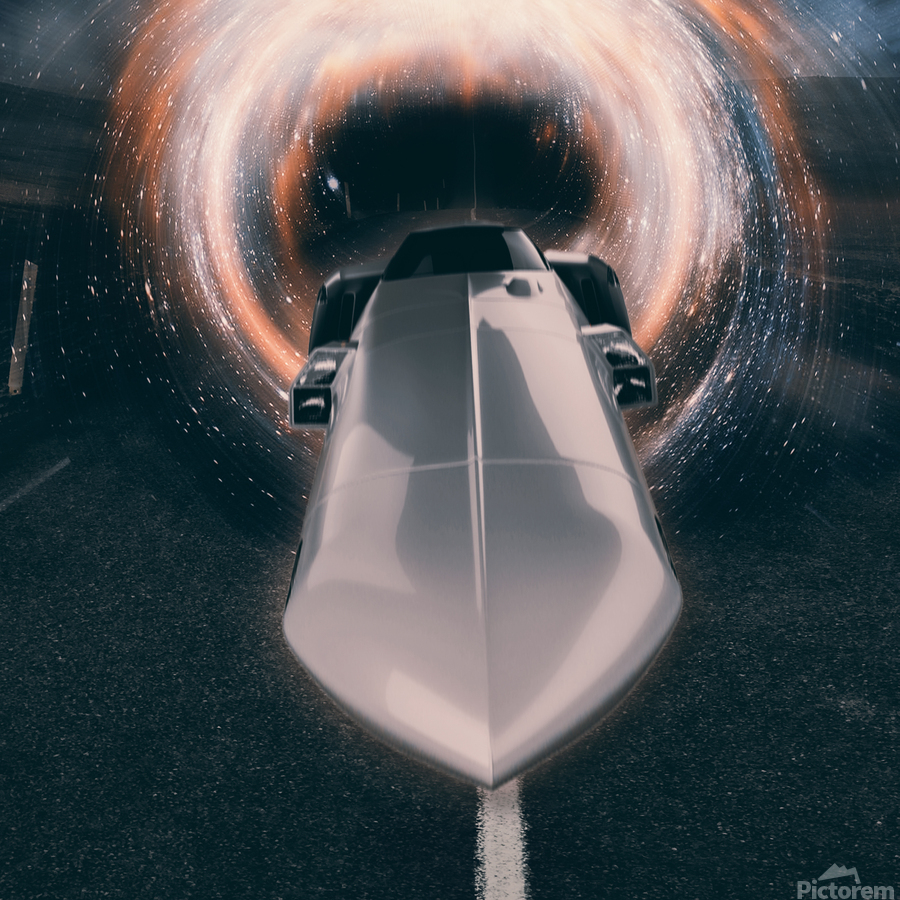 Back to The Future meets the Eliminator  Print