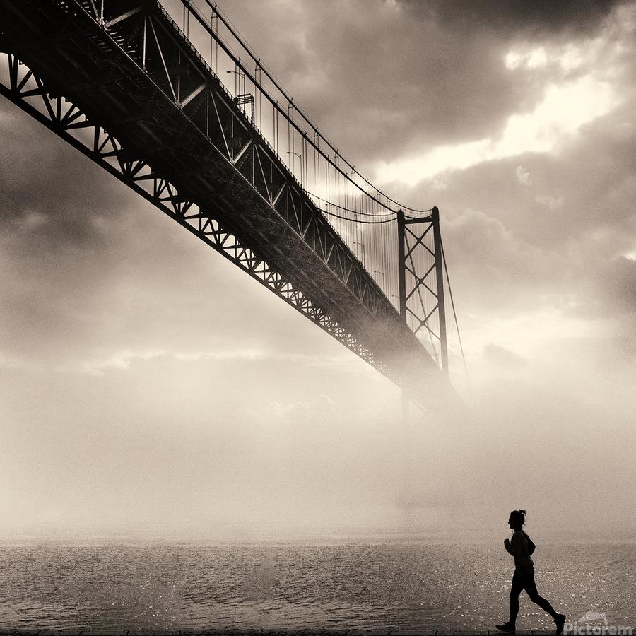 Urban Loneliness - The Bridge  Print