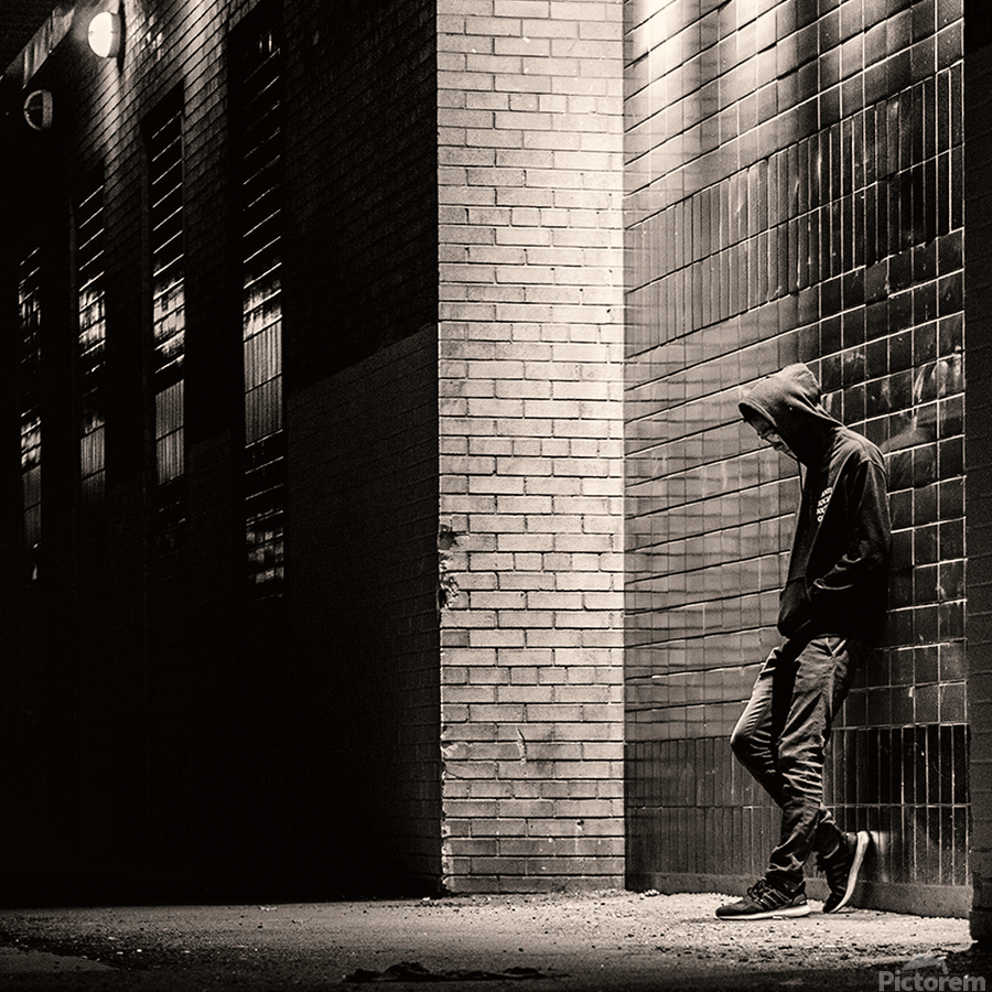 Urban Loneliness - The Lonely Teen  Print