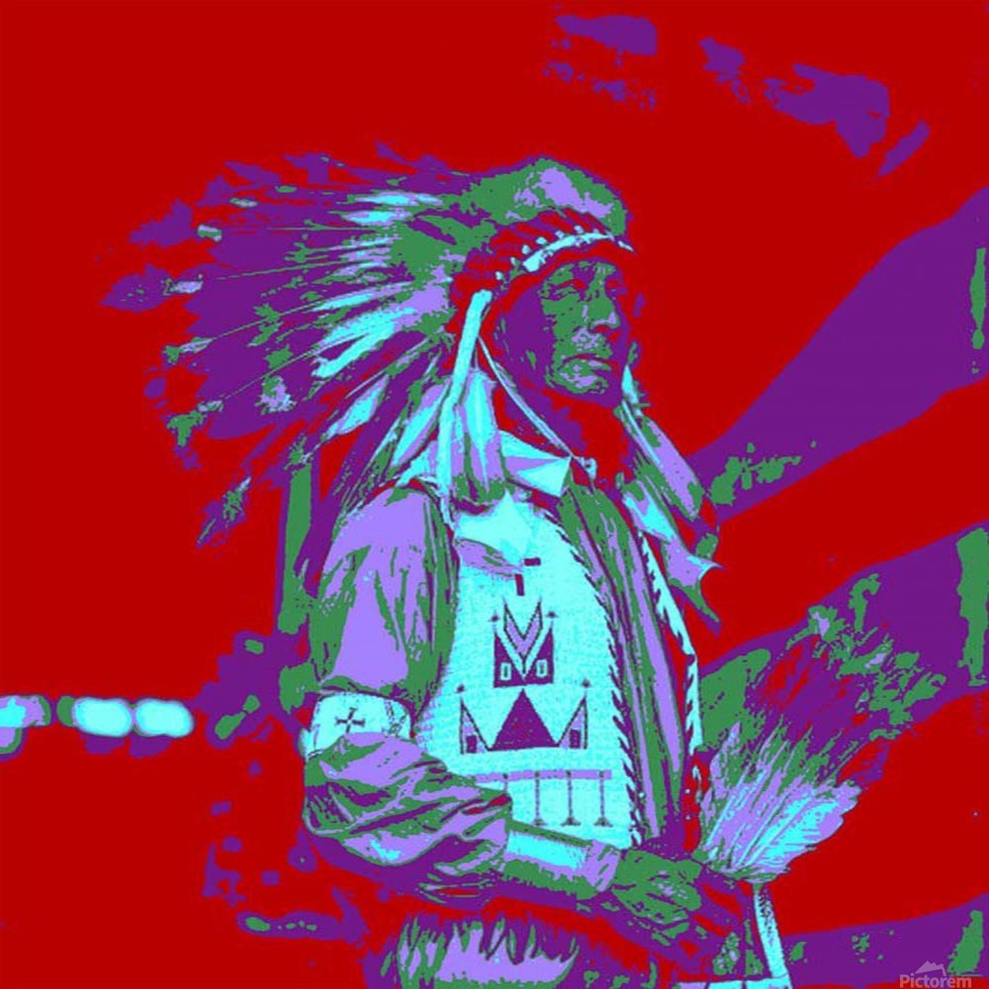 Indian Chief Pop Art  Print
