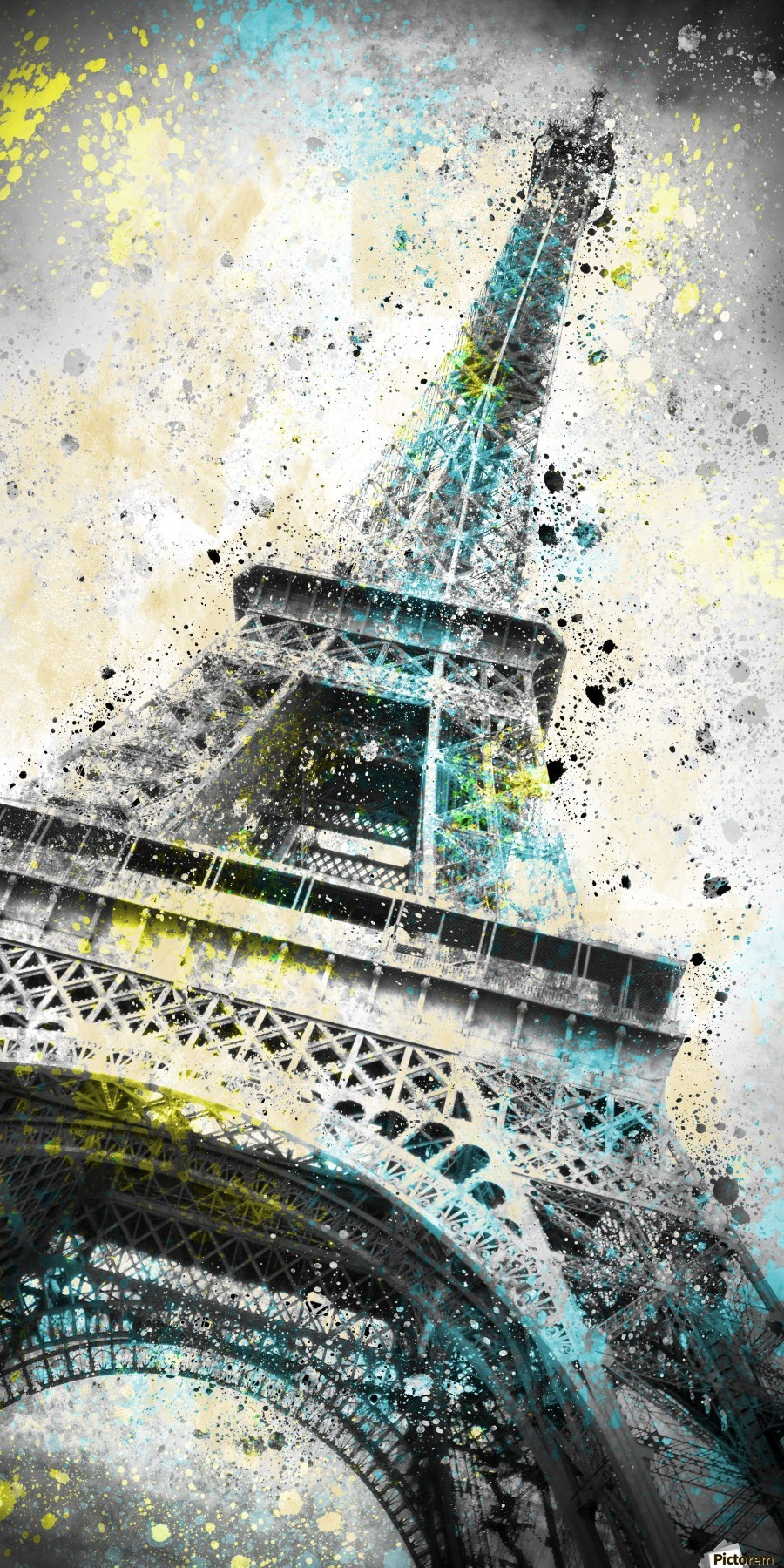City-Art PARIS Eiffel Tower IV  Print