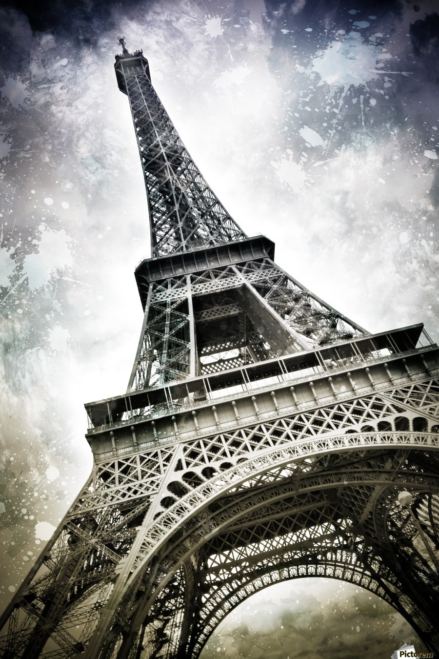 Modern-Art PARIS Eiffel Tower Splashes  Print