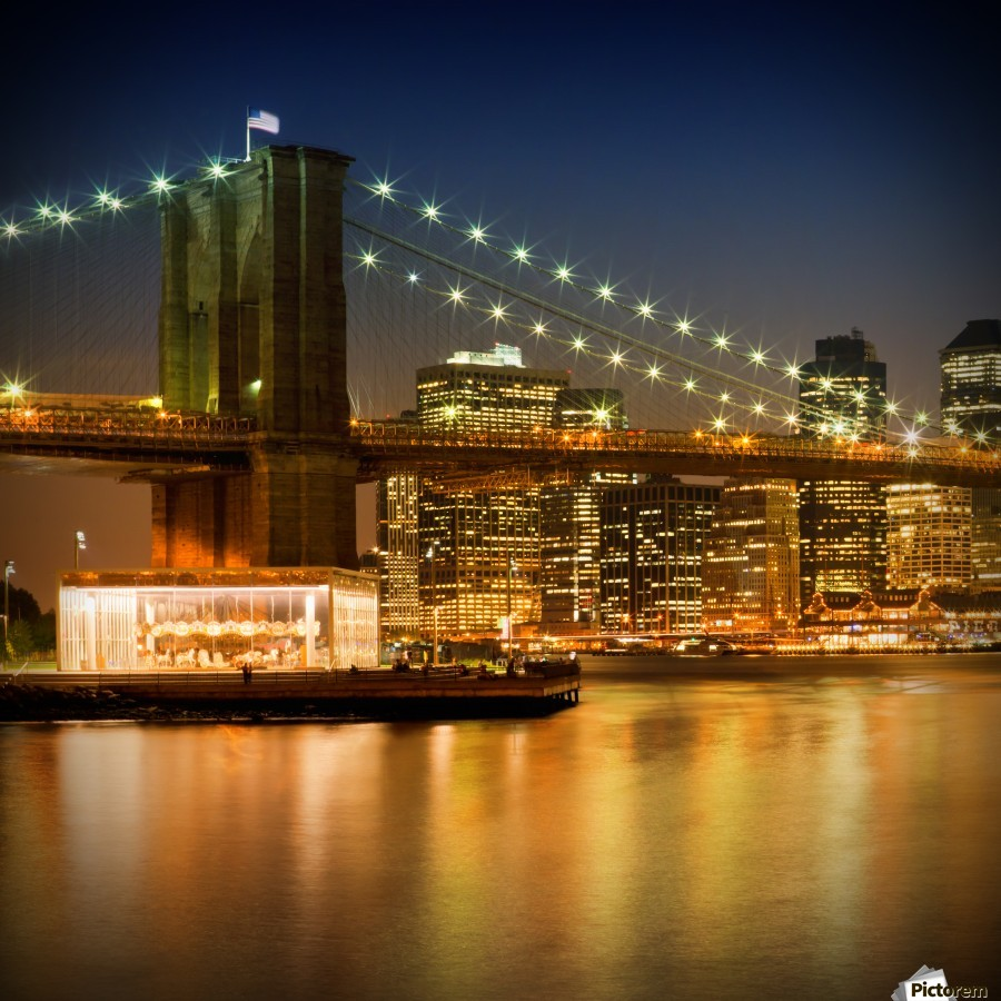 Night-Skylines NEW YORK CITY  Print